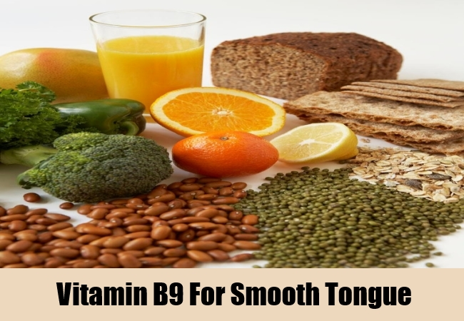 Vitamin B9 For Smooth Tongue