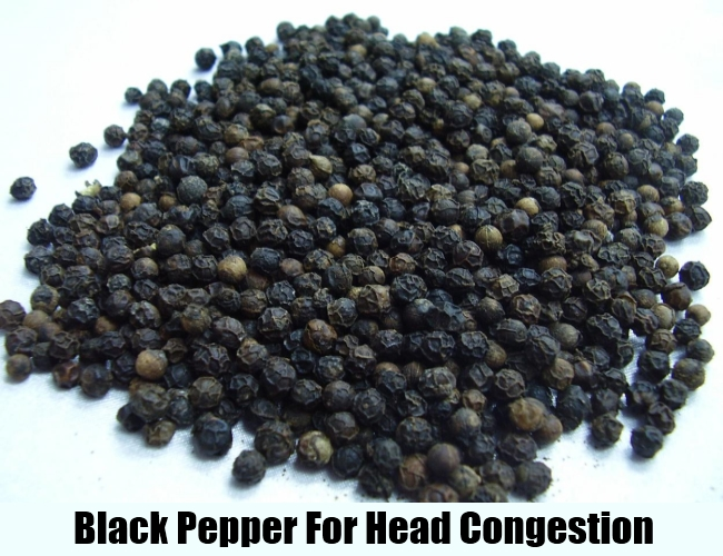 Black Pepper For Head Congestion