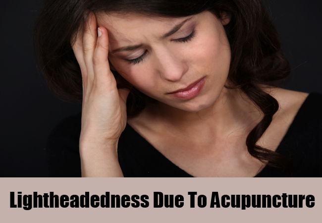 Lightheadedness Due To Acupuncture