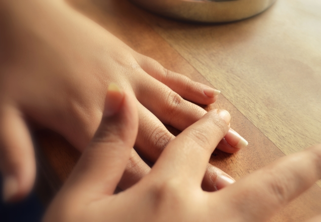 Massage The Fingers With Oil