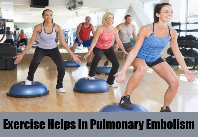 Exercise Helps In Pulmonary Embolism