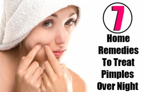 7 Home Remedies To Treat Pimples Over Night