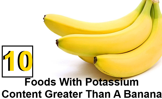 Top 10 Foods With Potassium Content Greater Than A Banana
