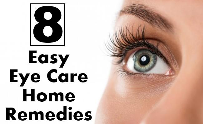 Easy Eye Care Home Remedies
