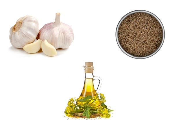 Garlic, Mustard Oil And carom