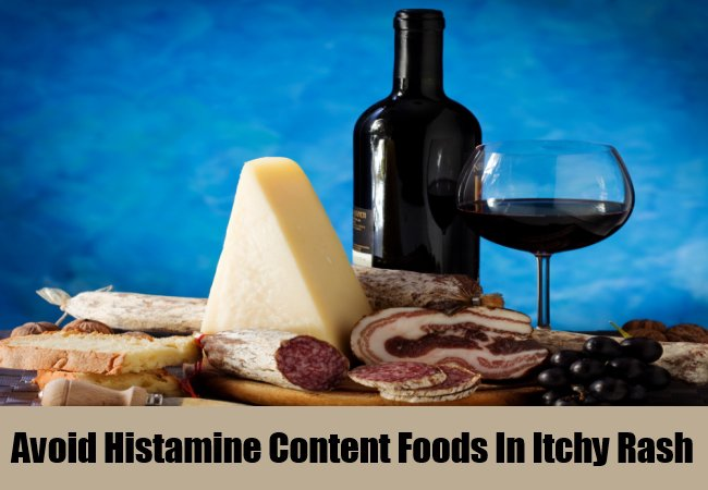 avoid-histamine-content-foods-in-itchy-rash