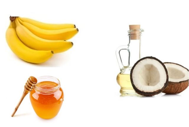 Banana Coconut Oil Honey Mask