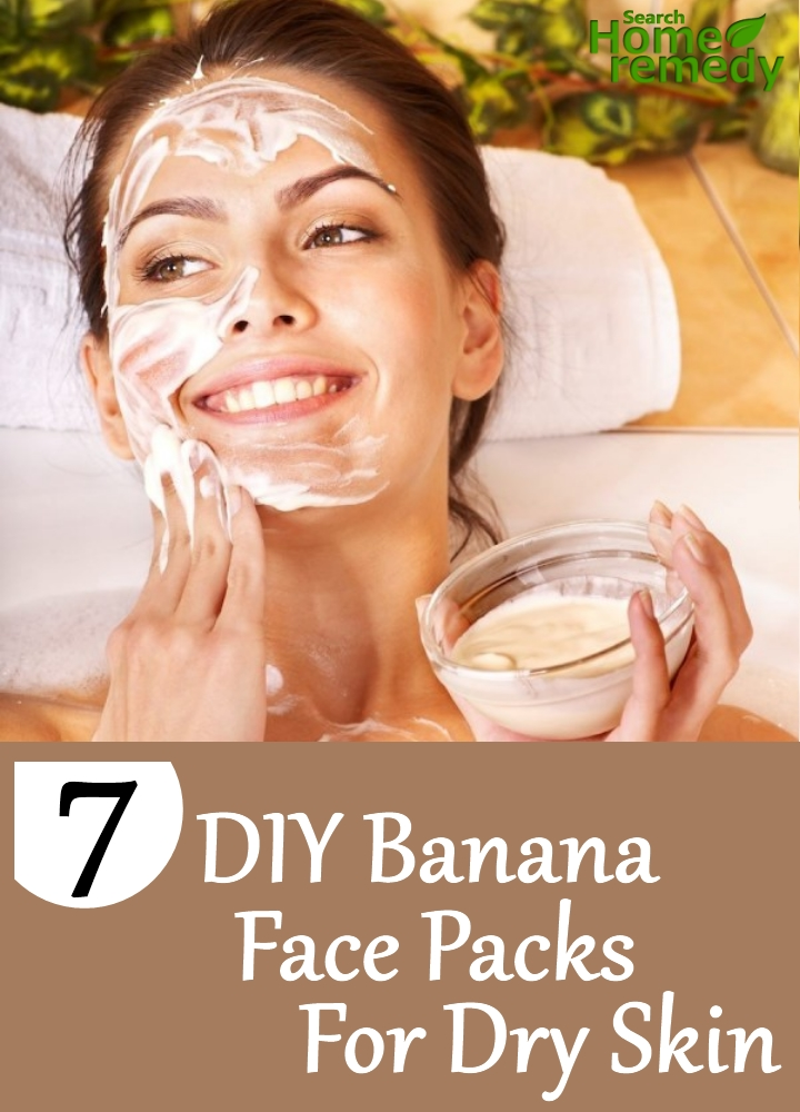 DIY Banana Face Packs For Dry Skin