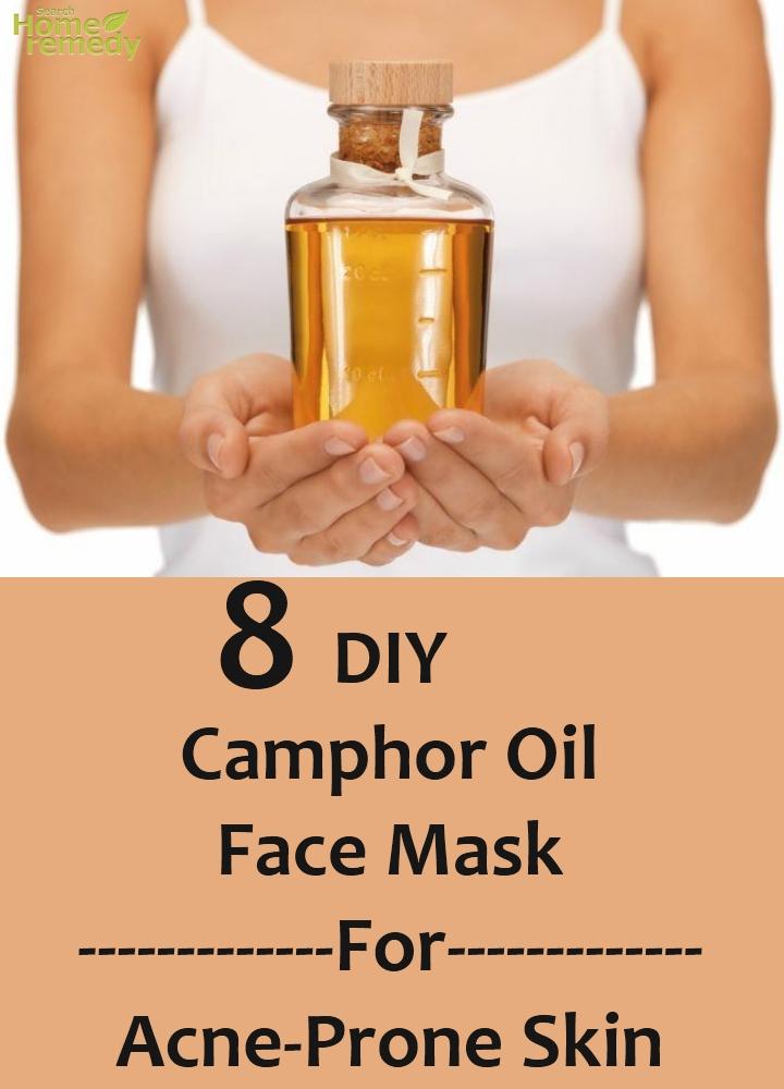 DIY Camphor Oil Face Mask For Acne-Prone Skin