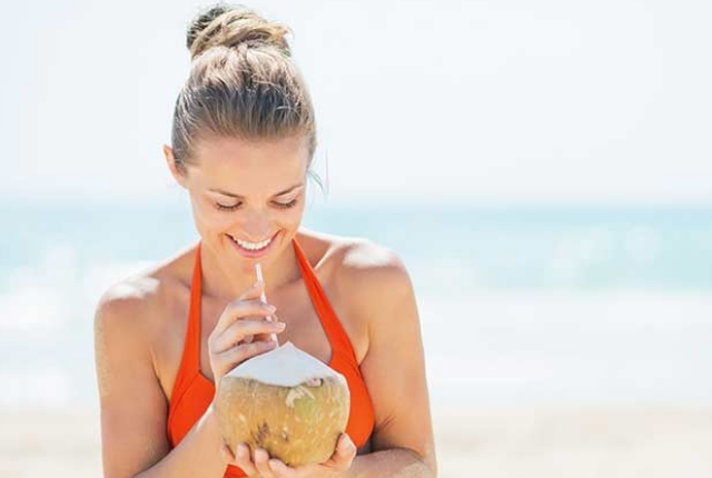 Drink Or Apply Coconut Milk On The Skin