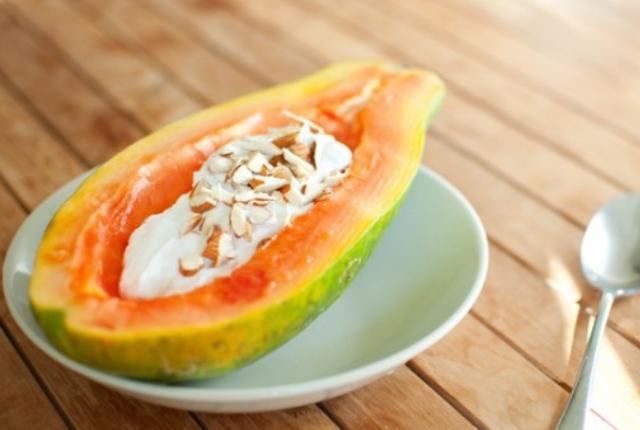 Papaya, Yogurt Mask For Dull Skin
