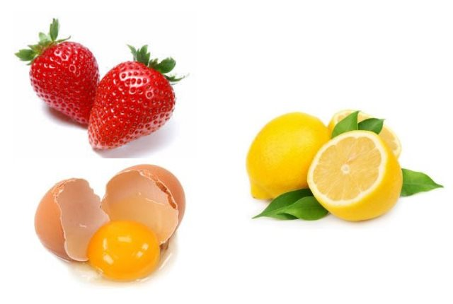 Strawberry Egg Yolk Lemon Mask