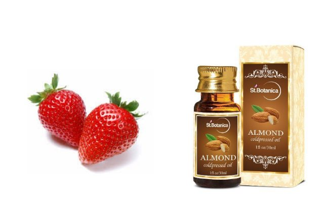 Strawberry almond oil starch mask