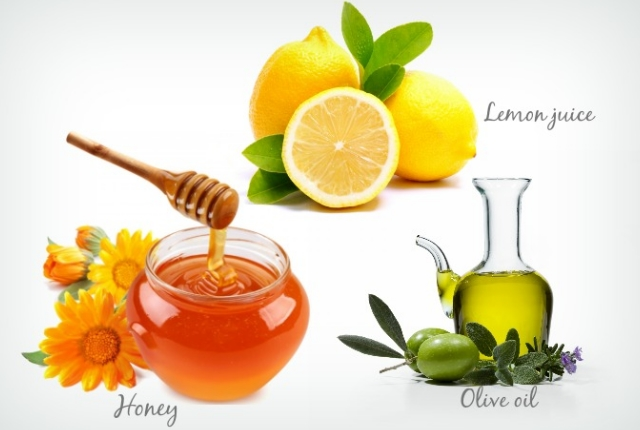 Use Honey With Lemon Juice And Olive Oil