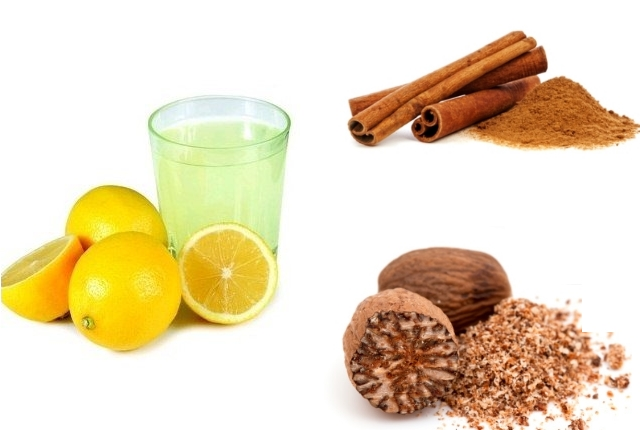 Lemon Juice Nutmeg Cinnamon Mask