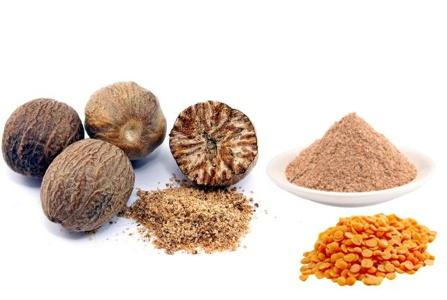 Lentil Powder And Nutmeg Mask