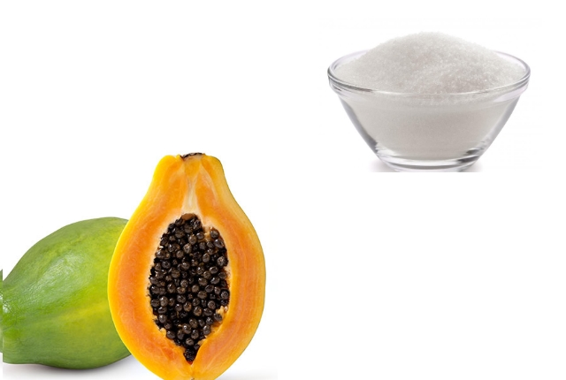 Papaya sugar mask