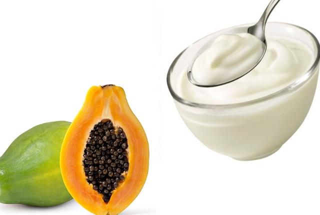 Papaya yogurt mask