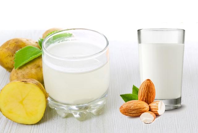 Potato Juice And Almond Milk