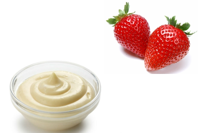Strawberry mayonnaise mask