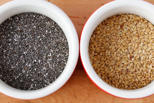 Flax and chia seeds
