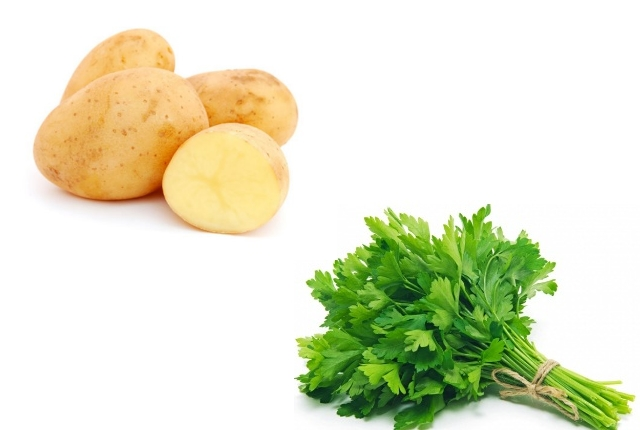 Parsley And Raw Potato Face Mask