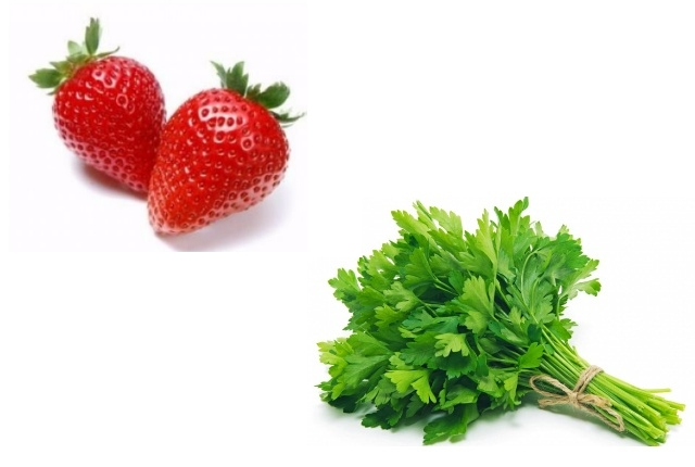 Parsley And Strawberry Face Mask