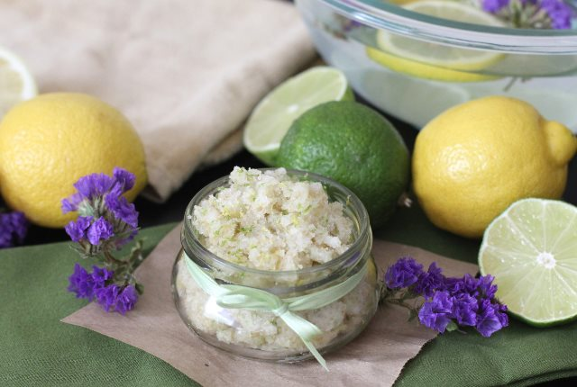 Citrusy fresh coco sugar scrub