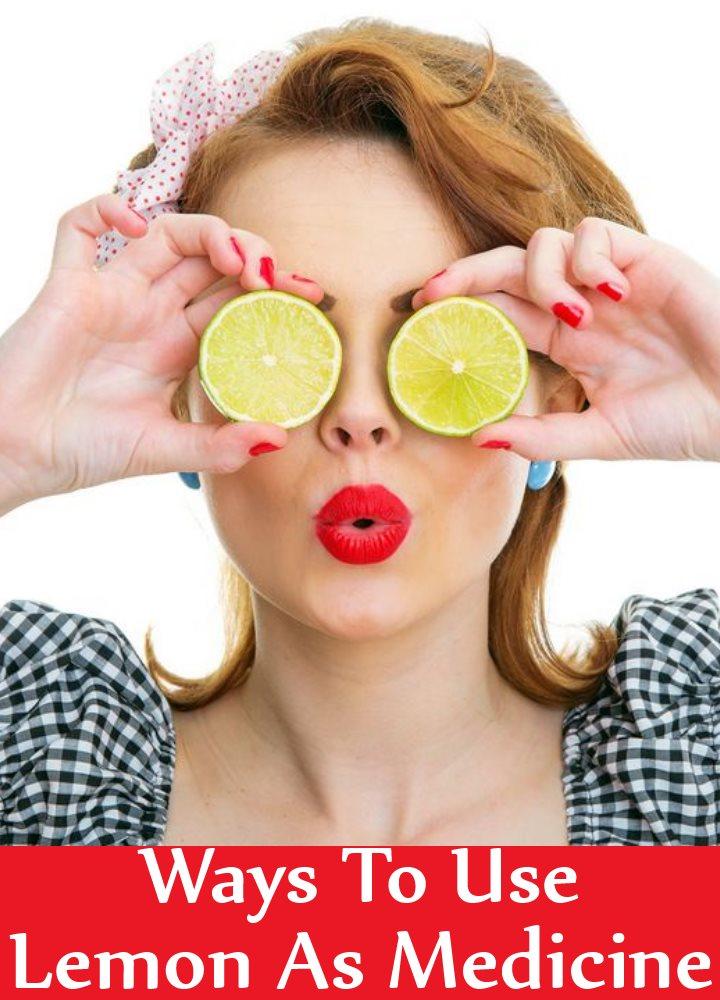 Ways To Use Lemon As Medicine