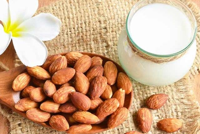 Drinking Almond Milk