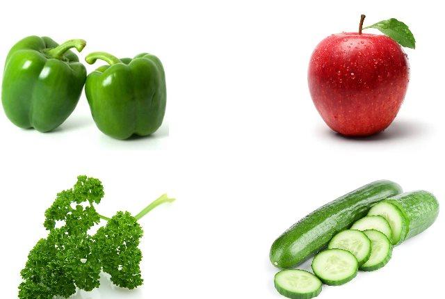 Green Capsicum, Apple, Cucumber And Parsley