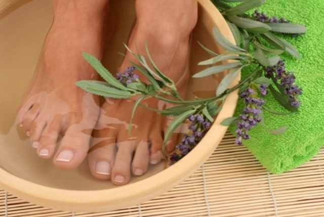 Lavender Oil Foot Soak