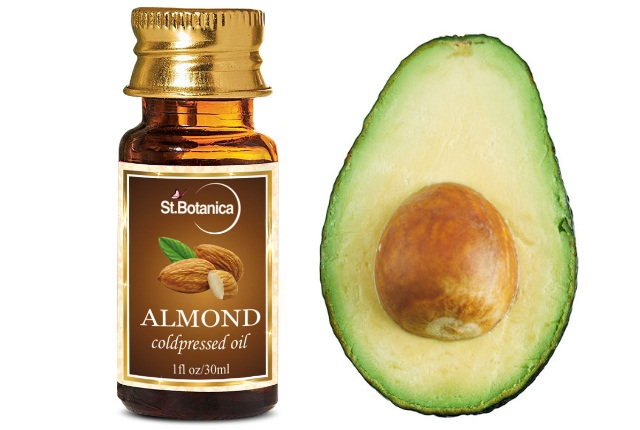 Almond Oil With Paste Of Avocado