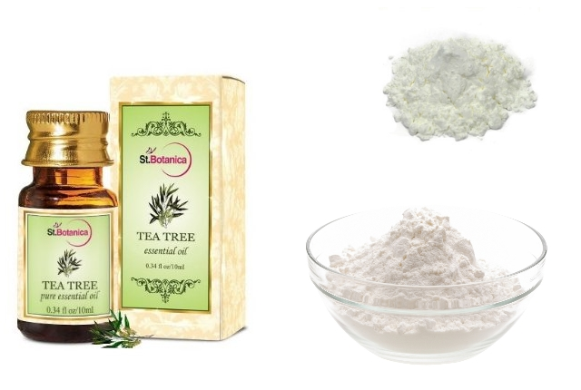 Cornflour and Tea Tree Oil Dry Shampoo