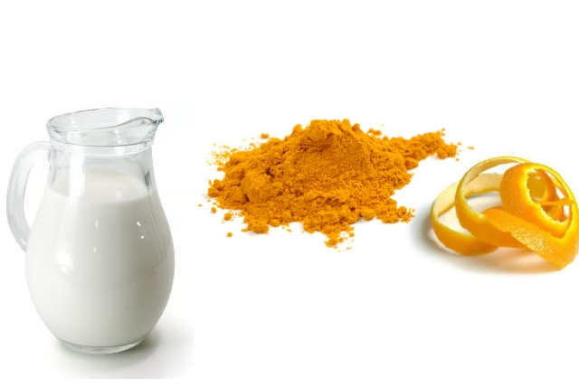 Raw Milk and Orange Peel Powder