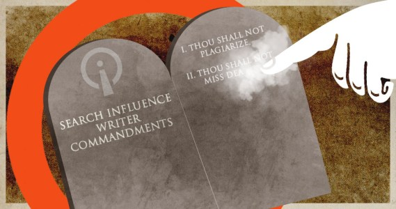 Search Influence Writer Commandments