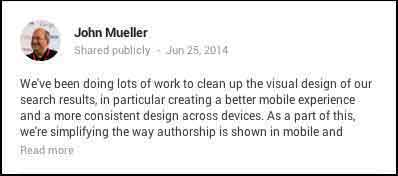 John Mueller Post - Update To Google Search Image - Search Influence