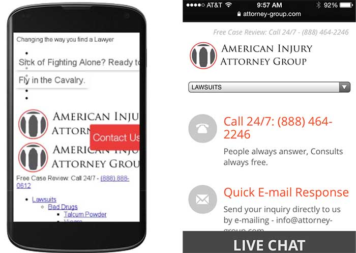 errors in mobile friendly testing tool show the site different than on iphone