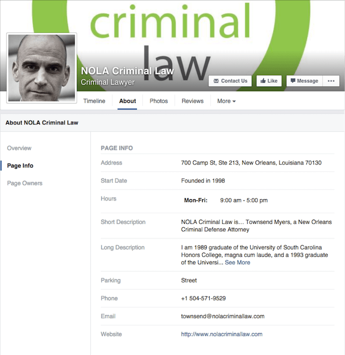 NOLA Criminal Law Facebook Image