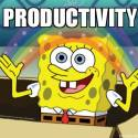 Photo Of Sponge Bob Being Productive - Search Influence
