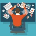 Image Of An Overworked Freelancer At His Desk - Search Influence