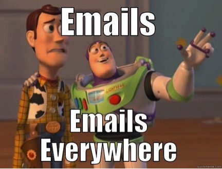 Image Of Buzz Lightyear Describing The Abundance Of Emails - Search Influence