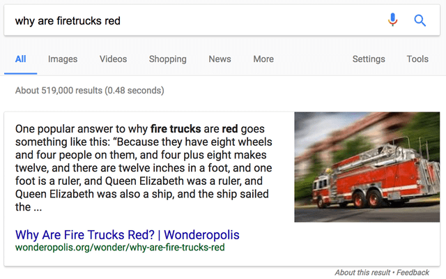 Why Are Firetrucks Red Google Search - Search Influence