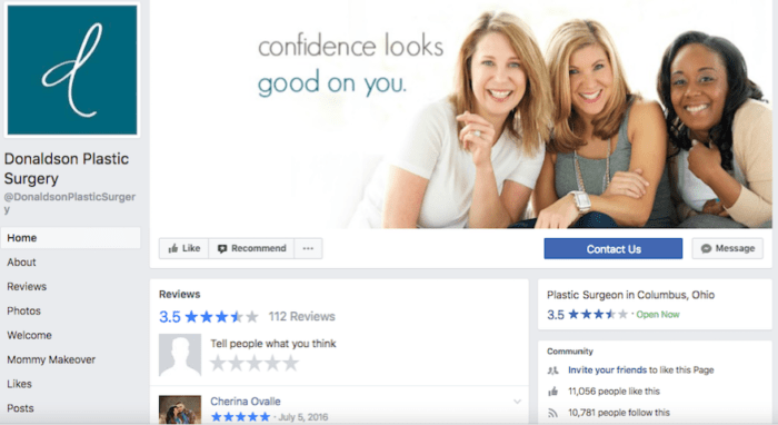 Image Of Facebook Page Likes For Donaldson Plastic Surgery - Search Influence