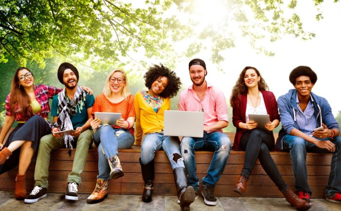 Teenagers Young Team Together Cheerful Concept Diversity - Search Influence