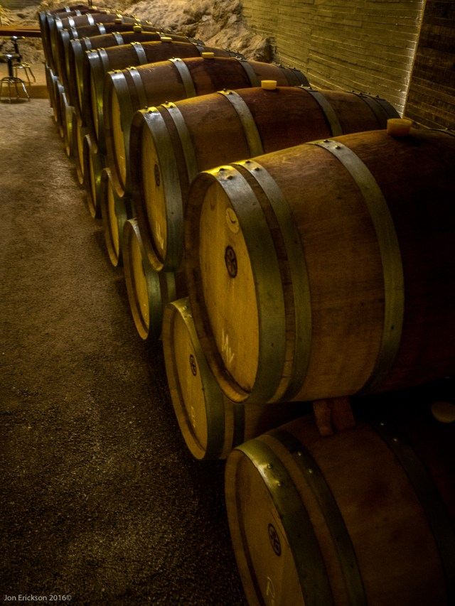 Petite Syrah and Tempranillo in barrels
