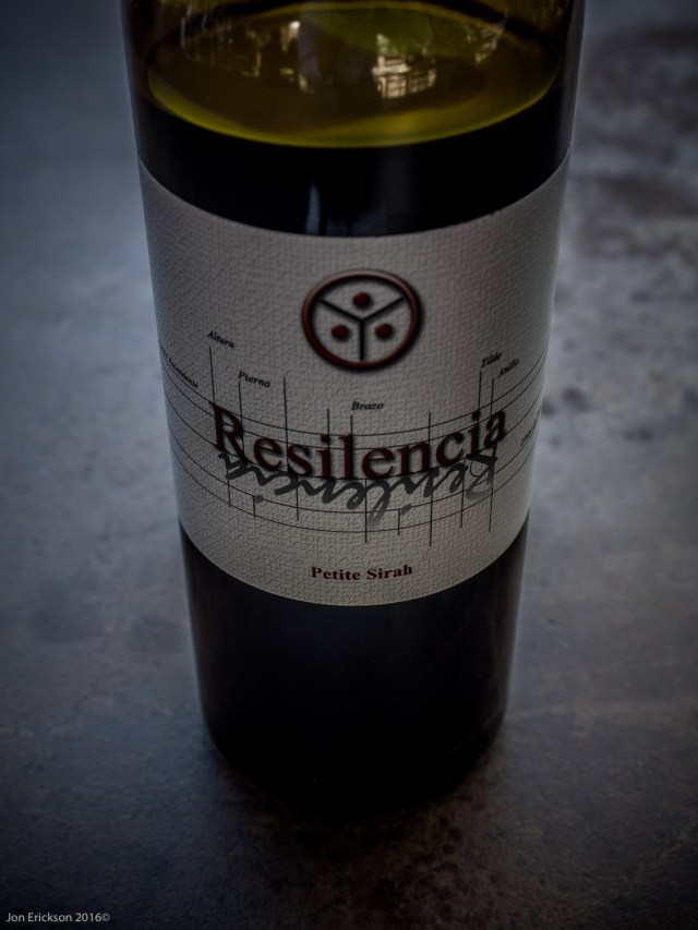 The Resilencia is a 100% Petite Syrah.