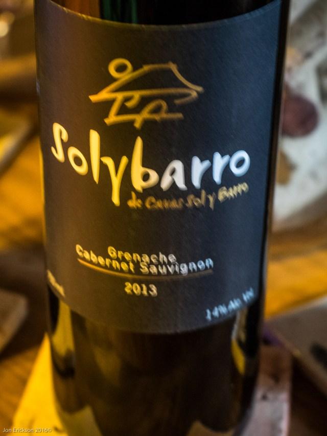 Solybarro Grenache Cabernet Sauvignon 2013