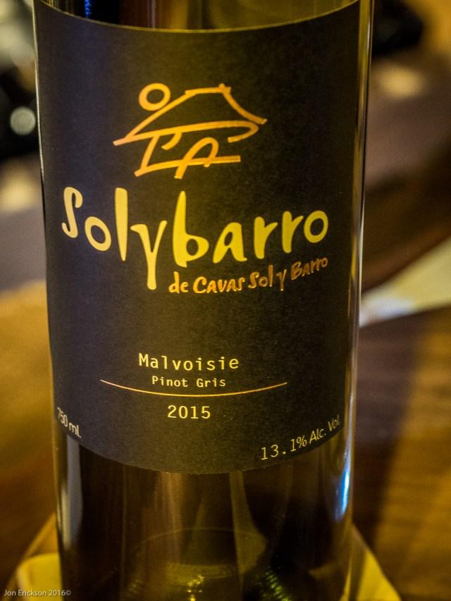 Solybarro Malvoisie (Pinot Gris) 2015