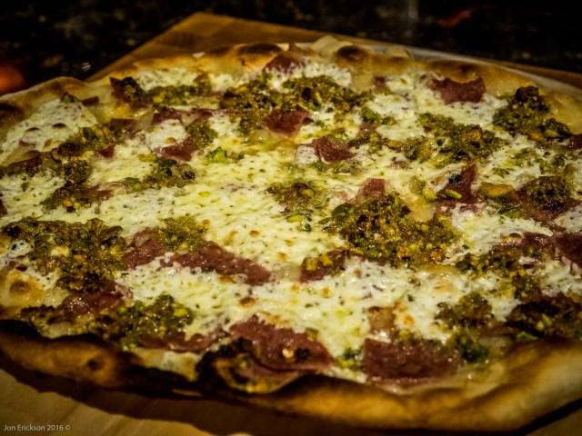 Mortadella and Pistachio Pizza